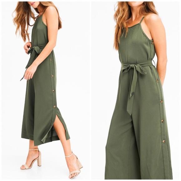 e89e1bc85ec Sensemill Olive Easy Fit Cropped Jumpsuit Boutique